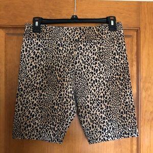 Cheetah Print spandex shorts